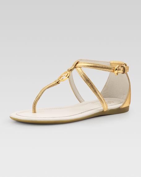 Audrey Metallic Thong Sandal, Youth