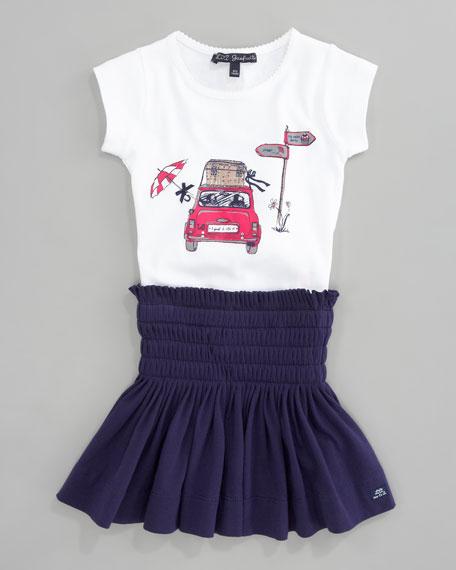 Lassidu Jersey Pleated Skirt