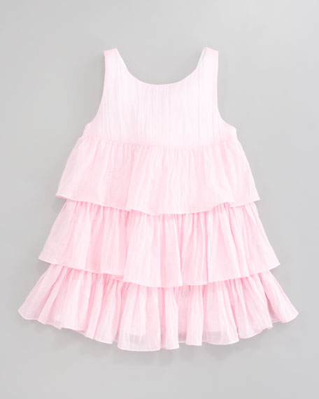 Crinkle Cotton Layered Dress, Sizes 4-6X