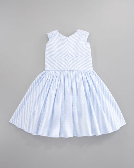 Striped Seersucker Dress, Sizes 2T-3T