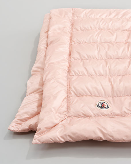 Packable Quilted Blanket, Light Pink