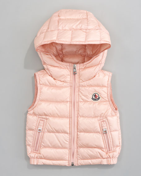 Patrick Detachable-Hood Vest, Light Pink