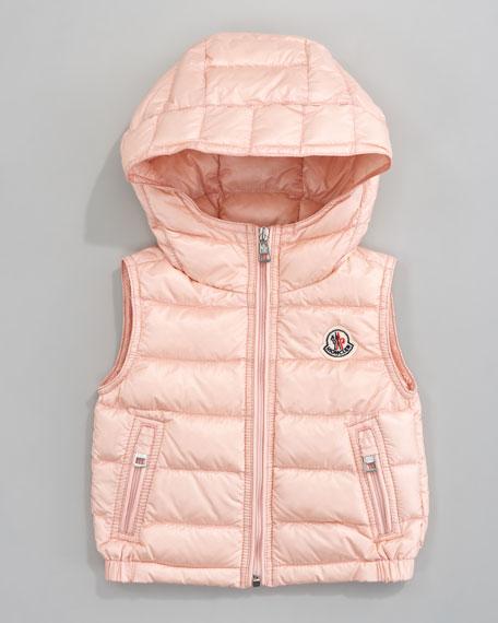 Patrick Detachable-Hood Vest, Light Pink