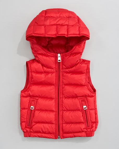 Patrick Hood Vest, Red