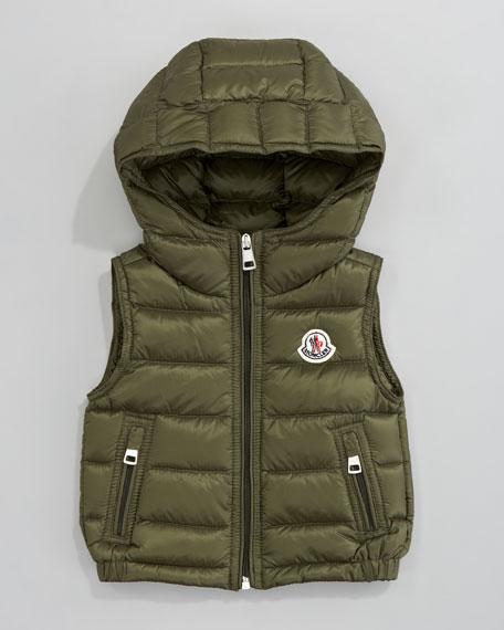 Patrick Detachable-Hood Vest, Olive