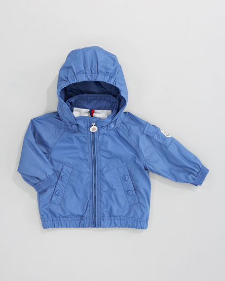 Coquet Classic Hooded Windbreaker, Bright Blue