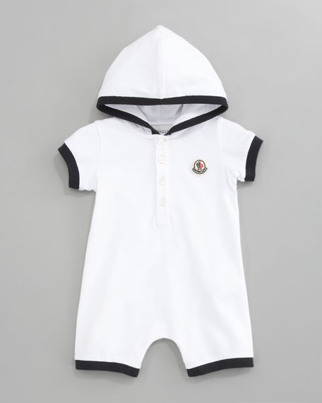 Hooded Pique Playsuit