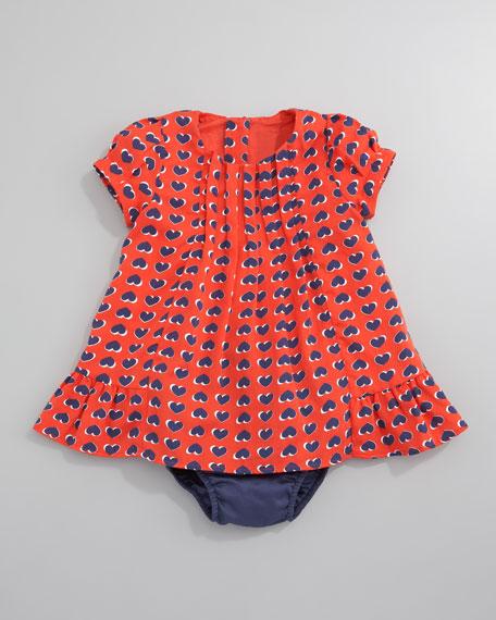 Heart Print Dress, 3-18 Months
