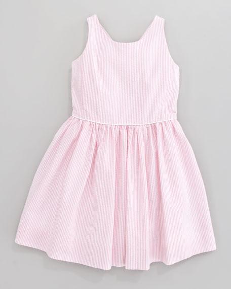 Bow-Back Seersucker Dress