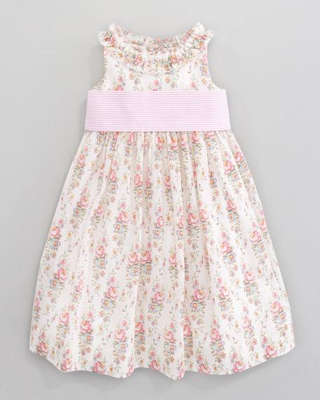 Floral-Print Seersucker Dress
