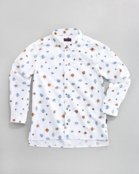 Doodle Slim-Fit Shirt, Sizes 8-10