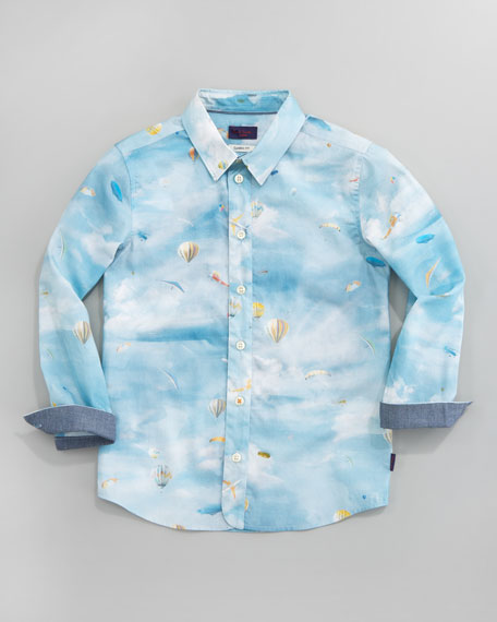 Deon Balloon-Print Shirt, Sizes 2-6