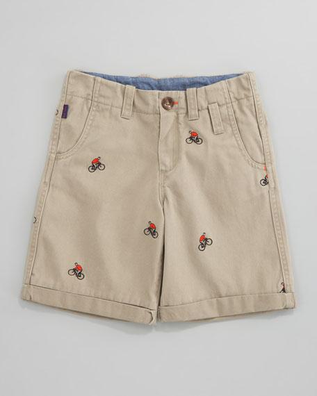 Darren Embroidered Bermuda Shorts, Sizes 2-6