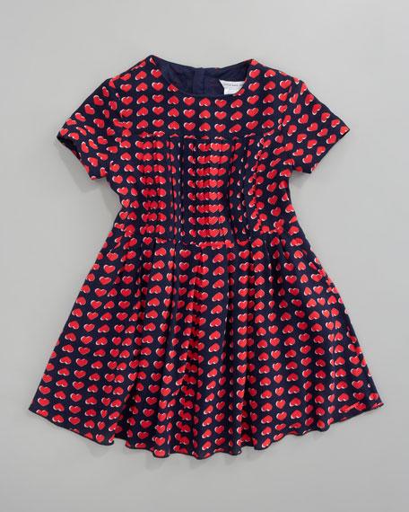 Heart Print Dress, Sizes 6A-10A