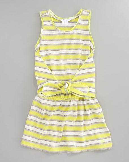 Metallic Striped Tank Dress, Sizes 2-5