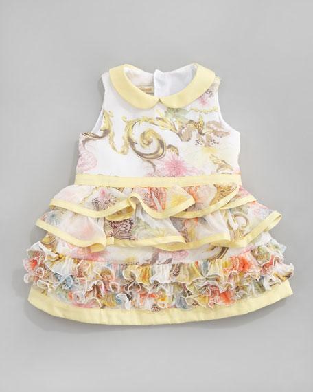 Floral Ruffle Dress, 3-9 Months
