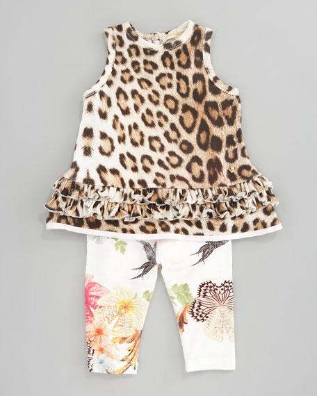 Sleeveless Ruffled-Trim Dress, 3-9 Months