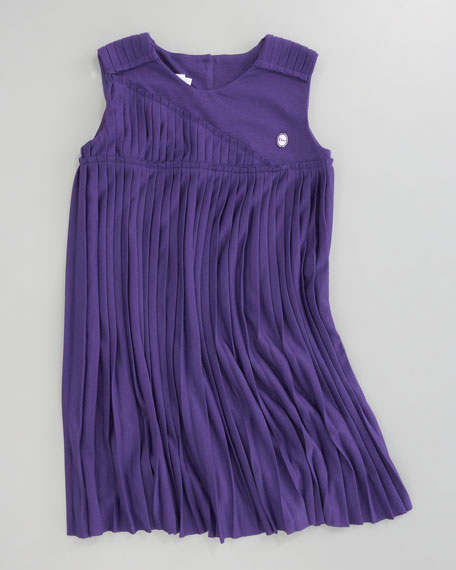 Pleated Jersey Dress, Sizes 2-4