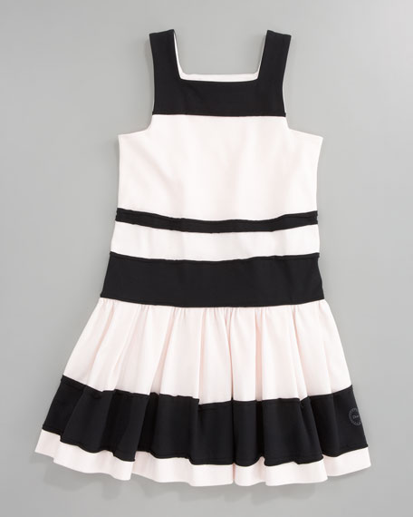 Striped Jersey Dress, Sizes 5-8