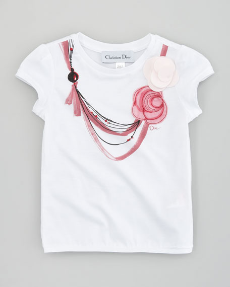 Necklace Print  Tee, Sizes 5-8
