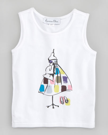 Sleeveless Designer Dress Tee, Sizes 2-4