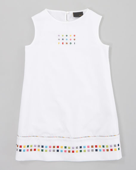 Logo Shift Dress, Sizes 2-5