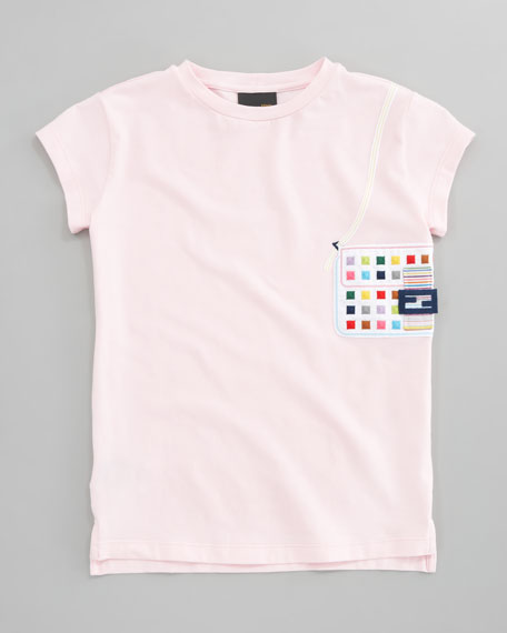 Embroidered Baguette Tee, Sizes 2-5