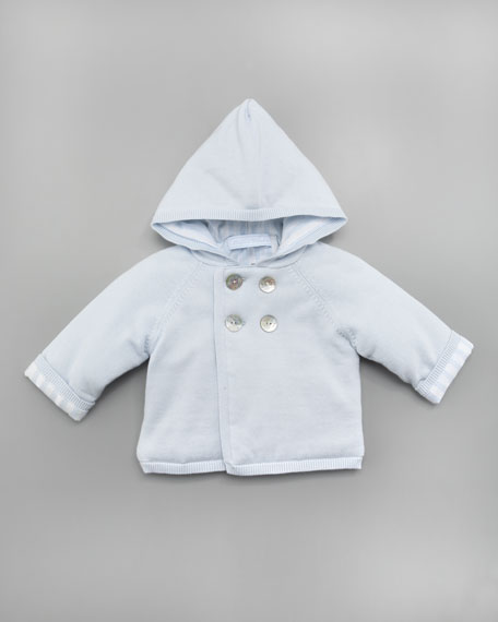 Tribord Double Hooded Jacket, Light Blue