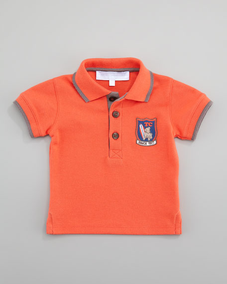 Themo Cotton Pique Polo, Coral