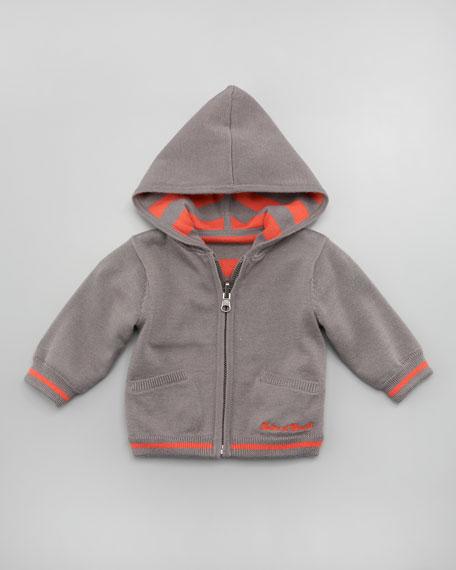 Tamis Reversible Zip Hoodie, Gray