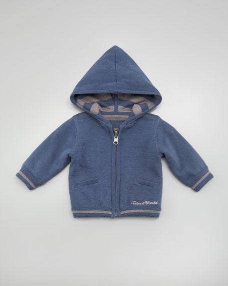 Tamis Reversible Zip Hoodie, Blue