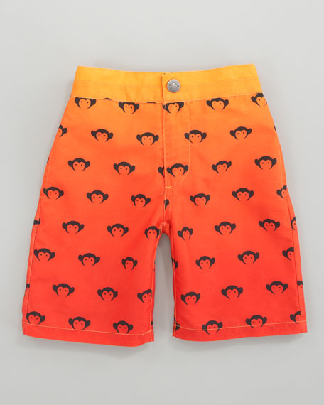 Monkey Swim Trunks, Mandarin/Orange