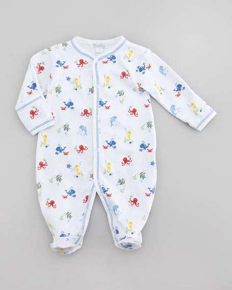 Oceans Alive Footie, Sizes Newborn-12 Months