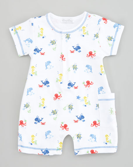 Oceans Alive Short Playsuit