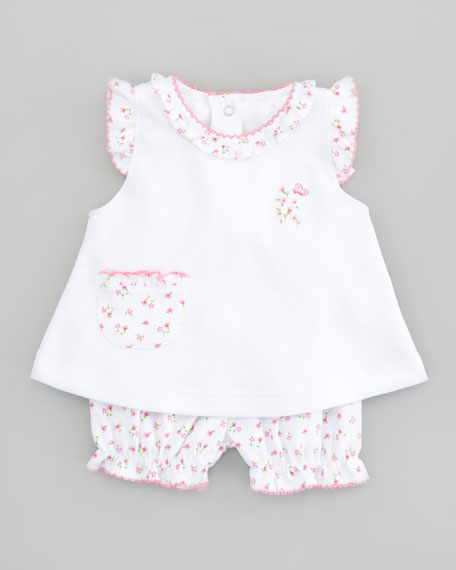 Garden Pink Floral Sunsuit Set