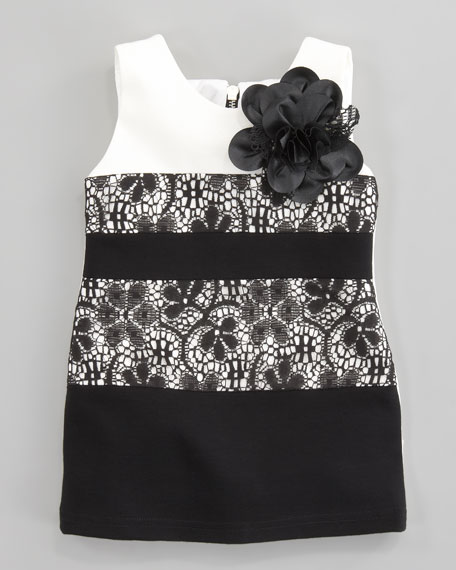 Crochet Lace Dropped Waist Dress, Sizes  8-10