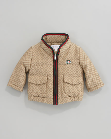 GG Waterproof Nylon Quilted Jacket