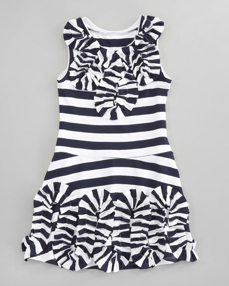 Striped Jersey Dress, Sizes 2T-3T