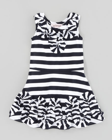 Striped Jersey Dress, Sizes 4-6X