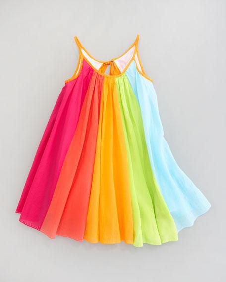Rainbow-Print Dress, Sizes 2T-3T