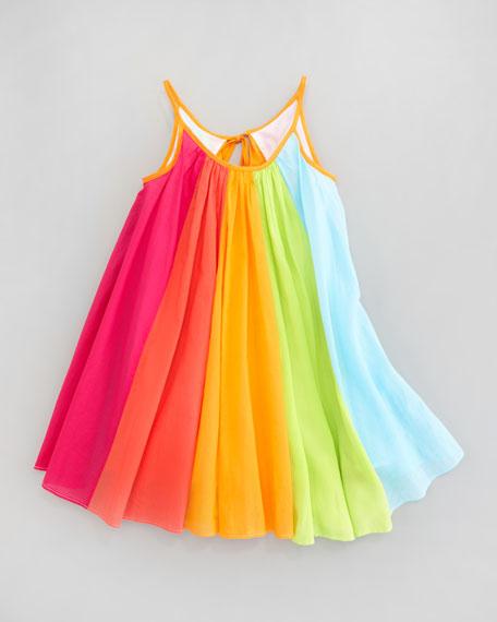 Rainbow Print Dress, Sizes 4-6X