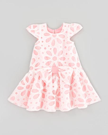 Flower Burn-Out Lace Dress, Sizes 4-6x