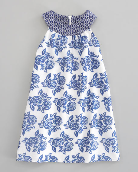 Sleeveless Floral Dress, Sizes 2-4