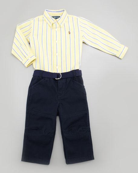 Oxford Stripe Shirt & Pants Set