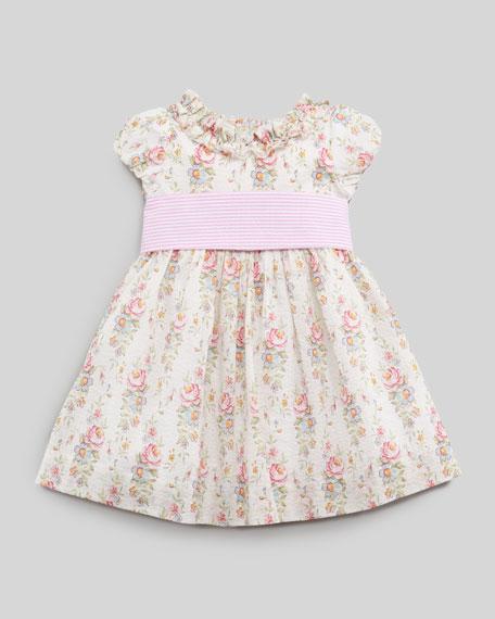 Floral-Print Seersucker Dress, 12 - 24 mo.