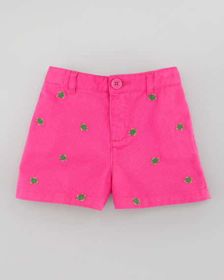 Baby Schiffli Embroidered Chino Shorts