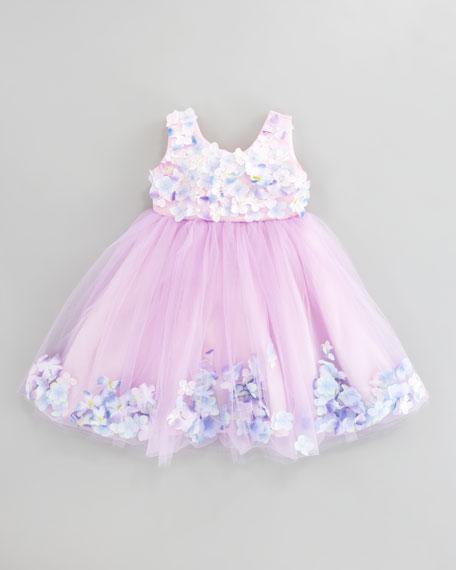 Fleur Bleu Tulle Dress, Sizes 2T-3T