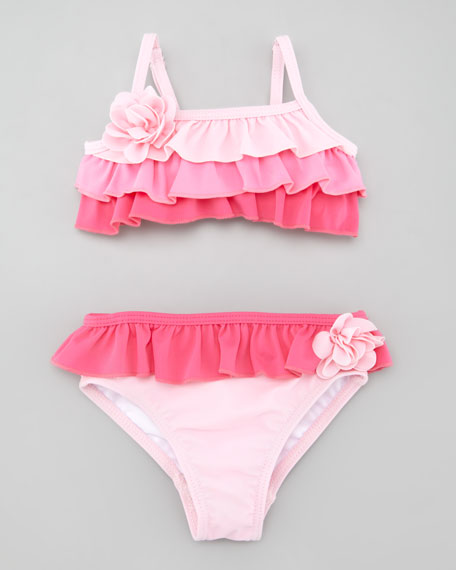 Ruffle Two-Piece Swimsuit