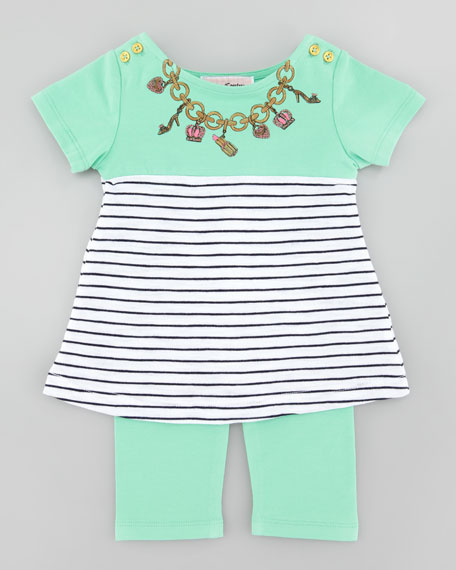 Necklace Print Tee & Legging Set
