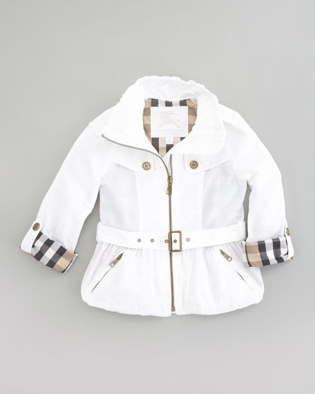 Mini Nylon Jacket, White